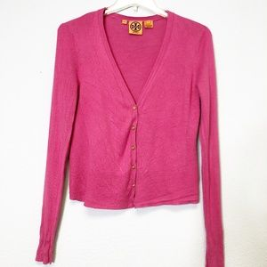 Tory Burch Button Up Cardigan Sweater